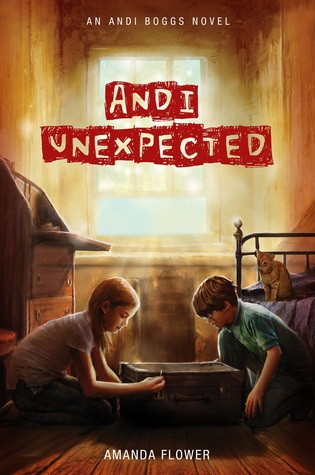 Amanda Flower's juvenile mystery Andi Unexpected (An Andi Boggs Novel) | reviewed by @SheilaRCraig