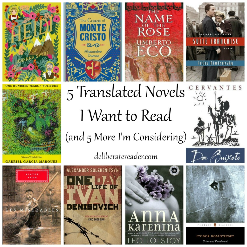 Translated Novels I Want To Read