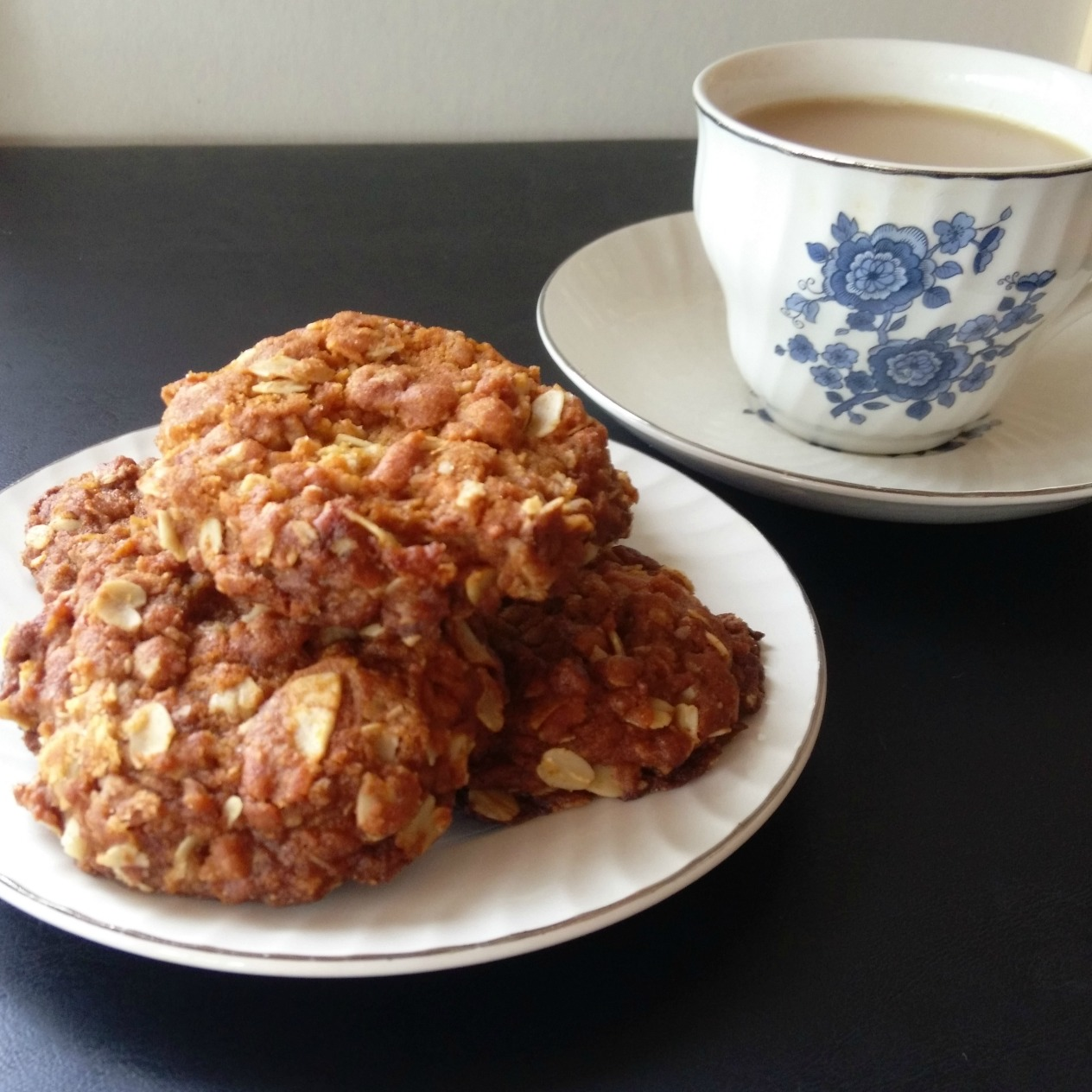 ANZAC biscuits and tea