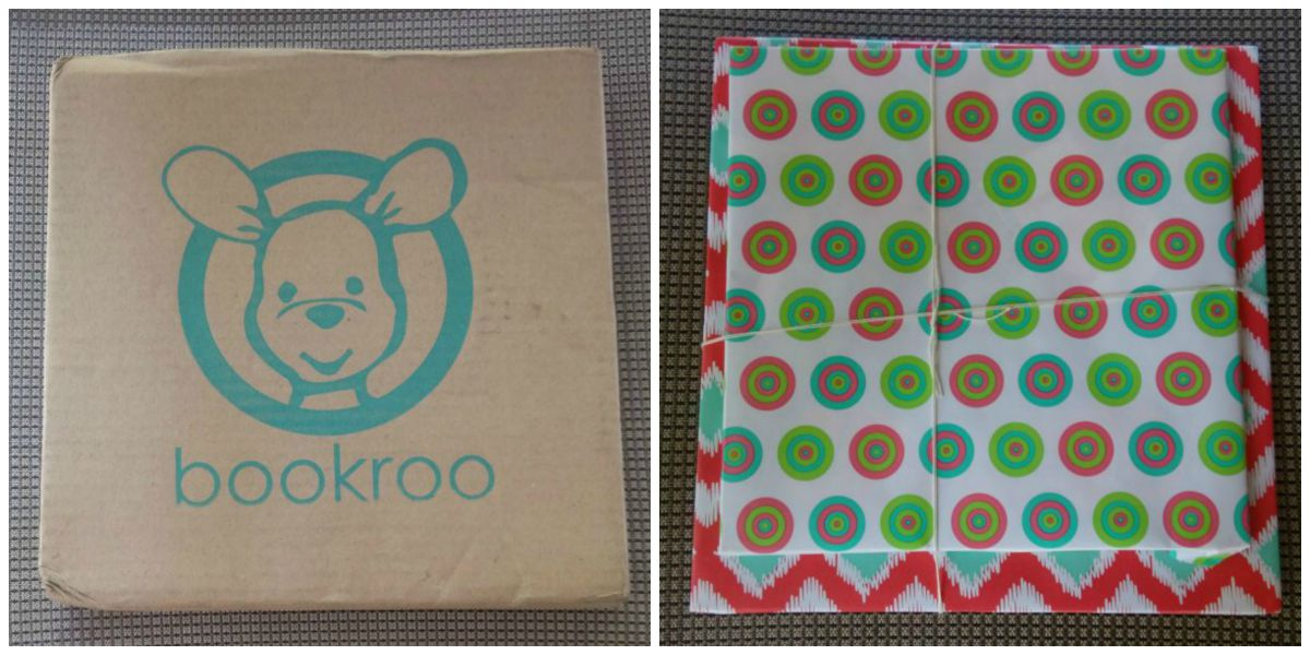 bookroo box and wrapped books