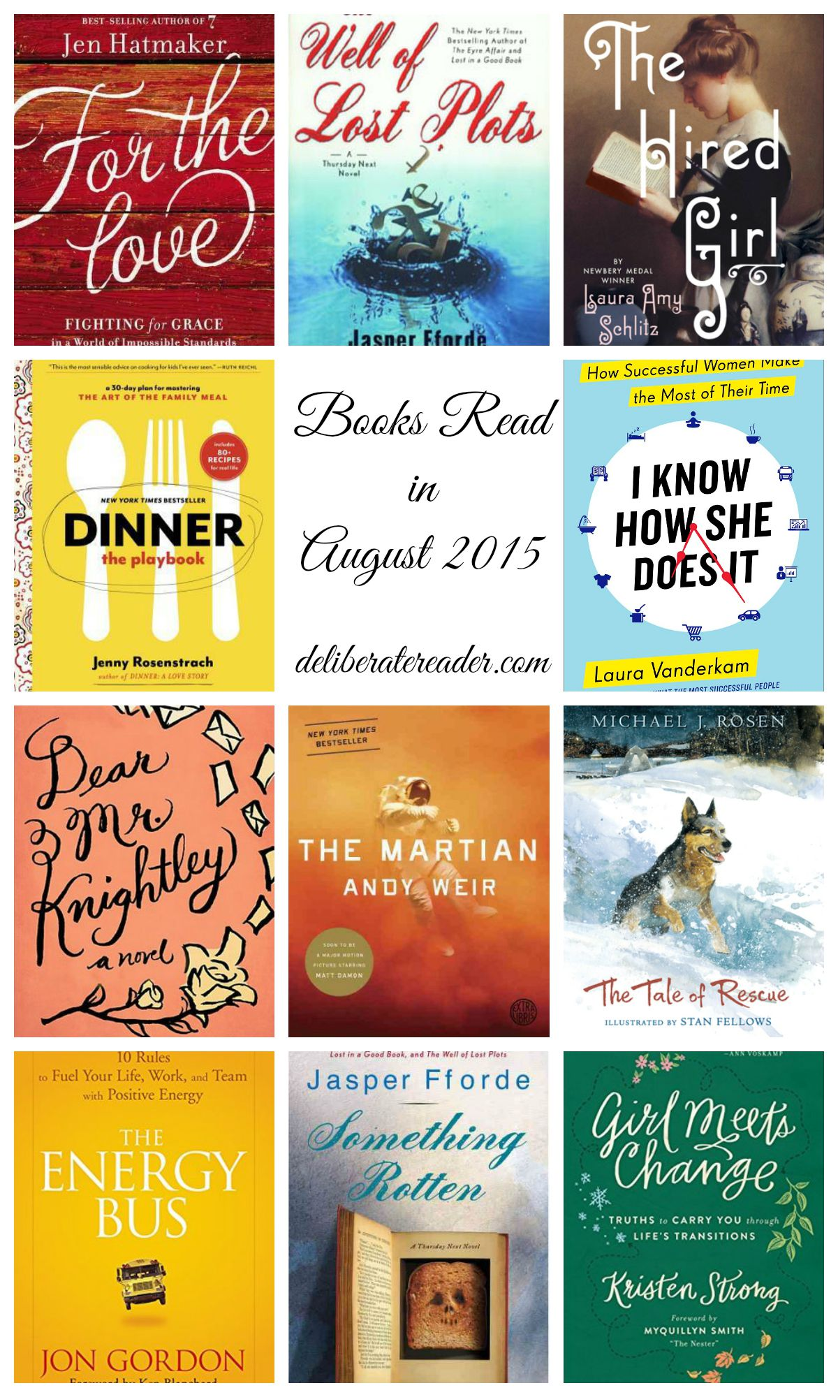 Books Read in August 2015