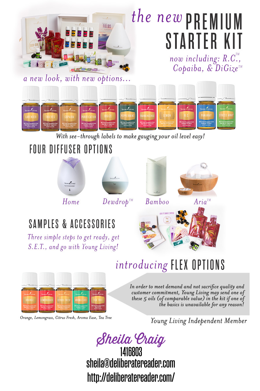 The New  Young Living Essential Oils Premium Starter Kit from The Deliberate Reader
