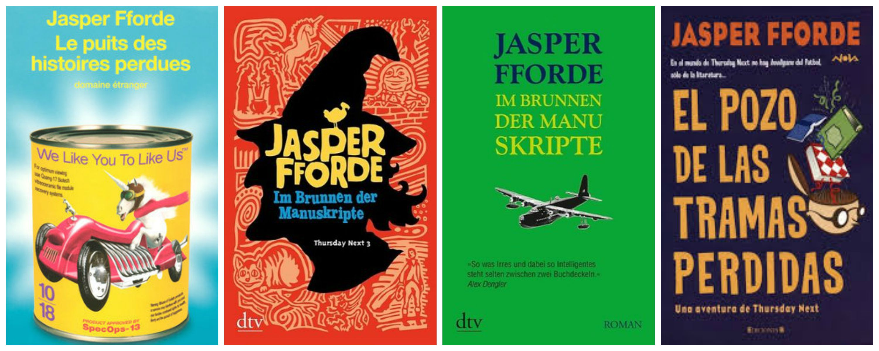 The Well of Lost Plots French German and Spanish covers