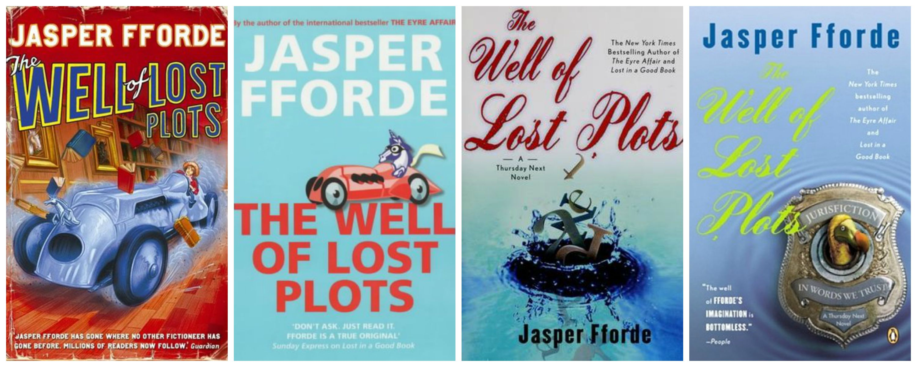 The Well of Lost Plots UK and US covers