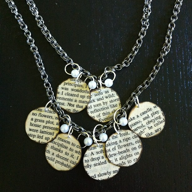 bookish necklace