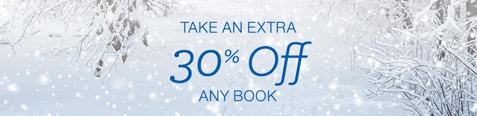 30 percent off any book