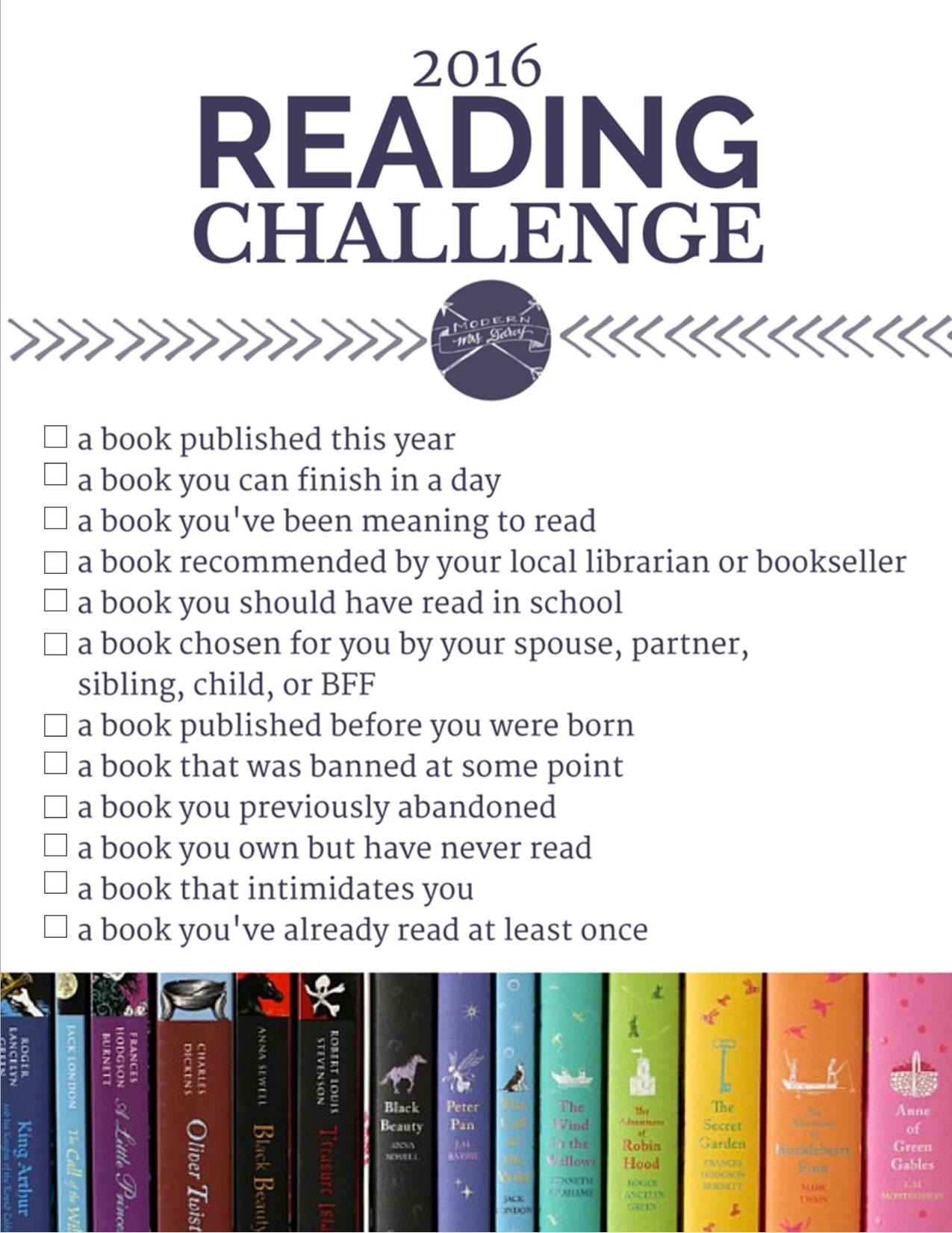 MMD-2016-Reading-Challenge | One of my 2016 Reading Goals