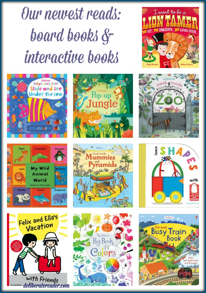 newest reads board books interactive books February 2016