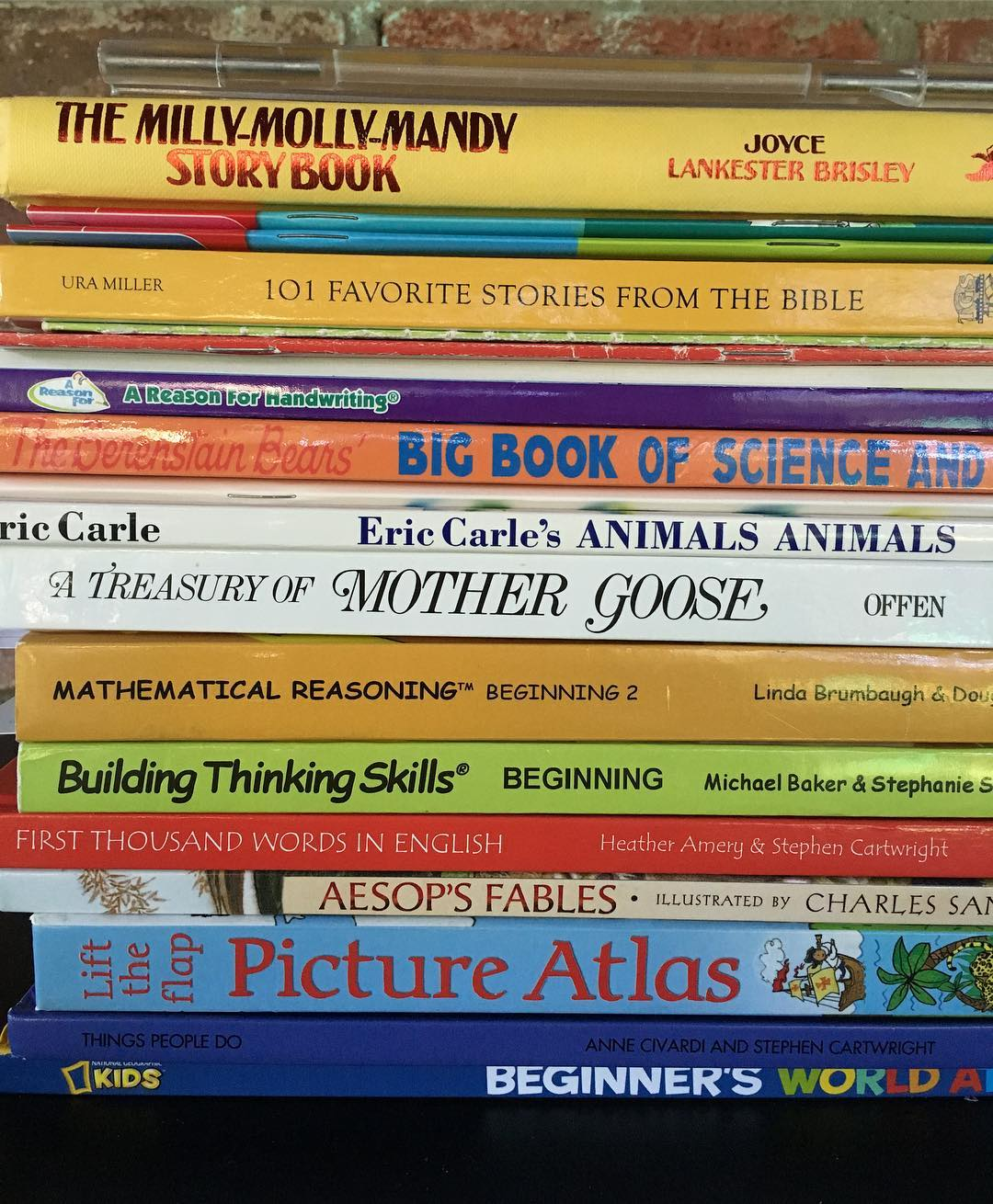 Kindergarten Book Stack